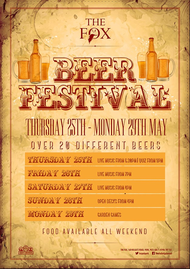 Beer Festival at the Fox on Holgate Road