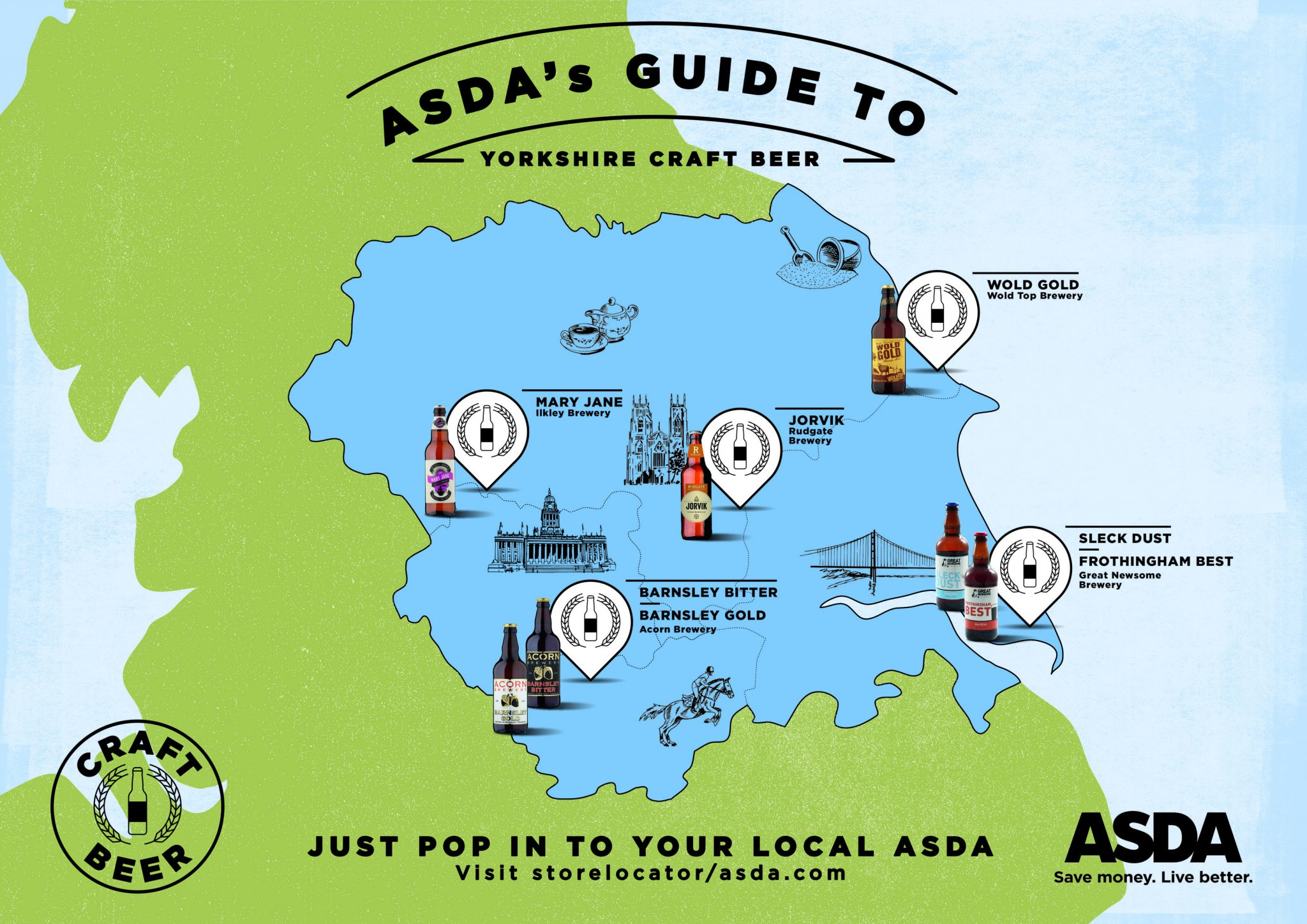 Craft beer map – Yorkshire
