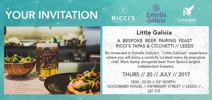 Little Galicia x Ricci's Tapas at 53 Degrees North Invite