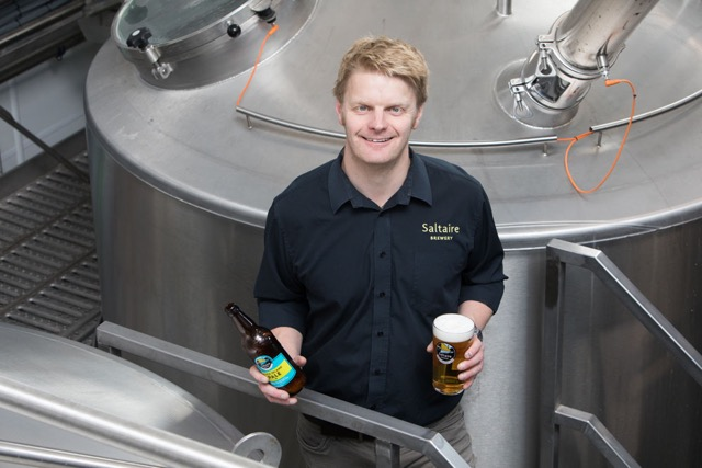 Ewen Gordon with the new brew kit at Saltaire Brewery