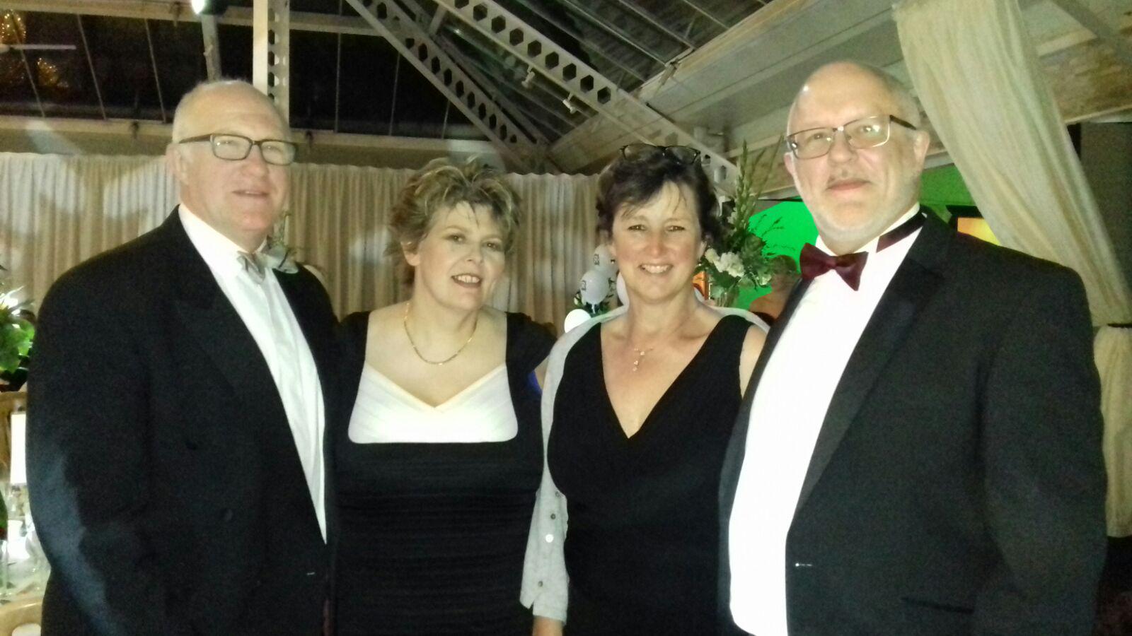 Carolyn Pennock second left and Nigel Upson far right