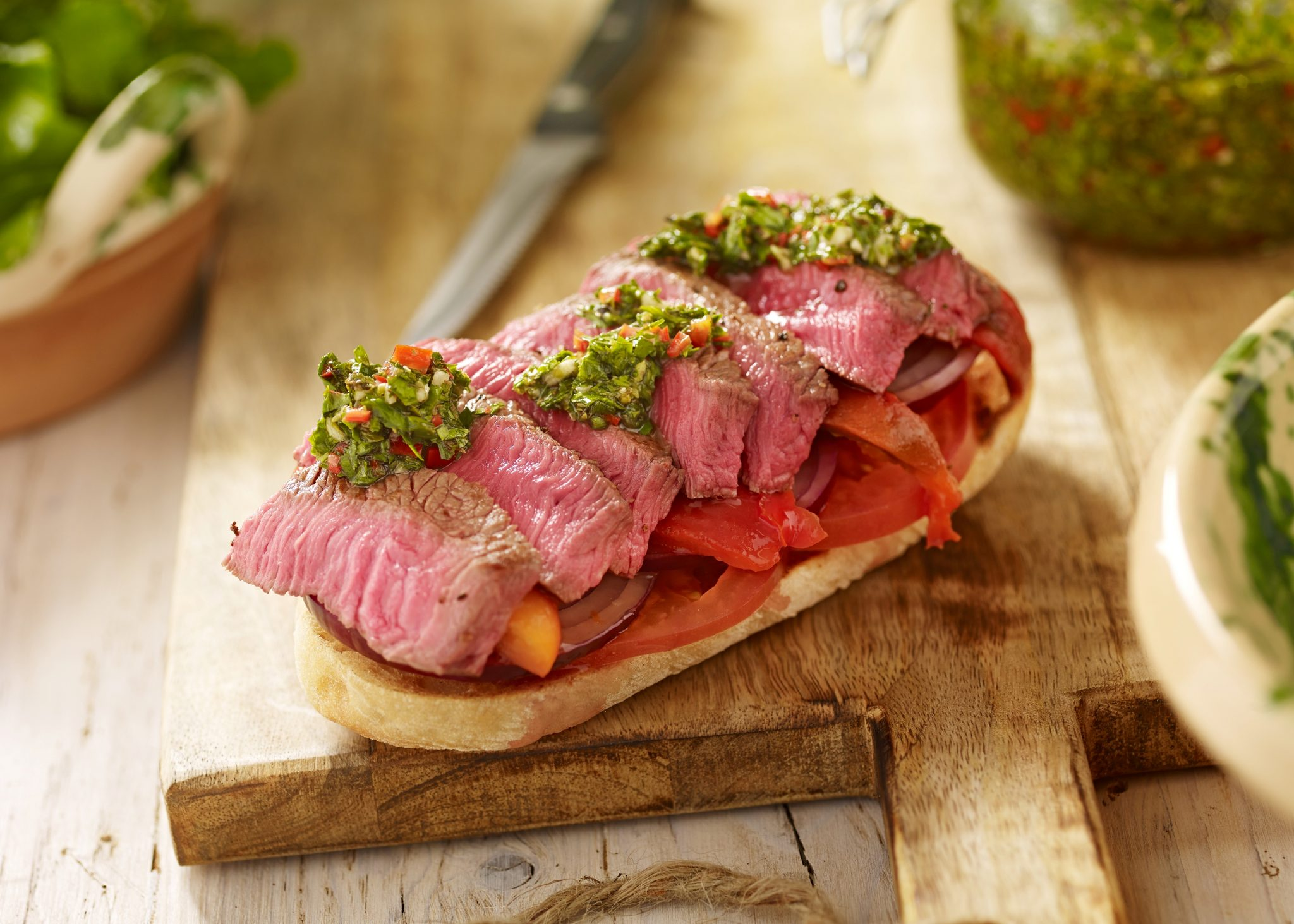 Weetons seared rump steak with chimichurri resized