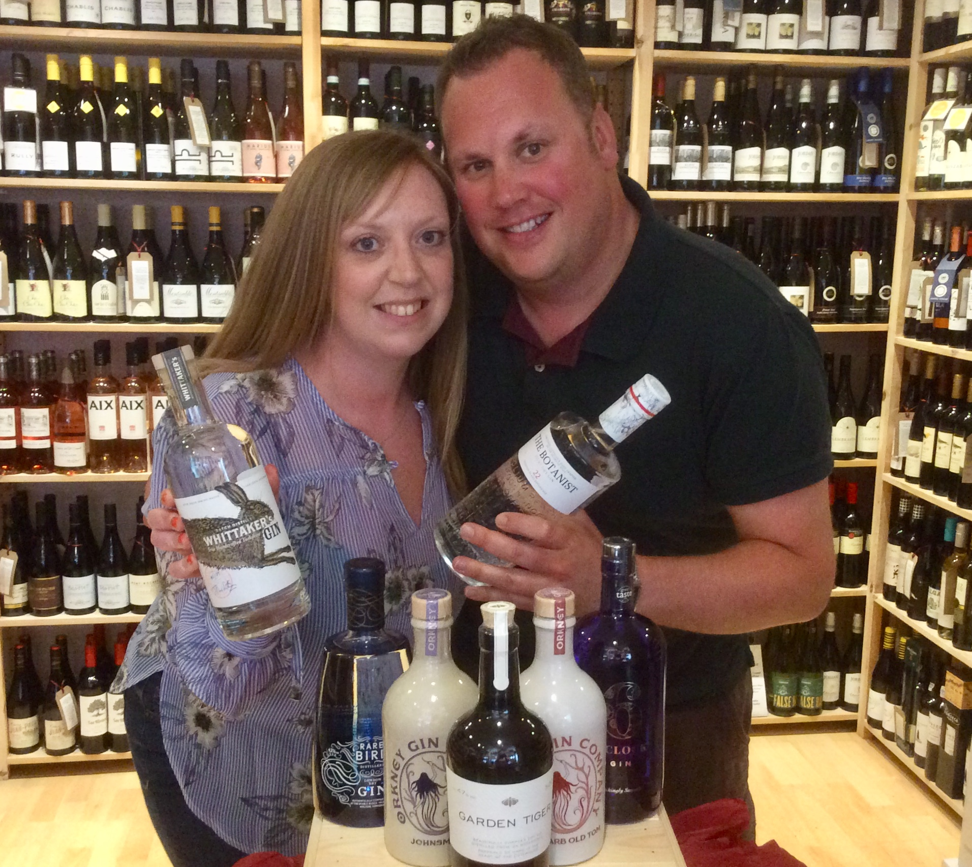 Jayne and Mal Potter, the organisers of Ginilicious and owners of Helmsley Wines