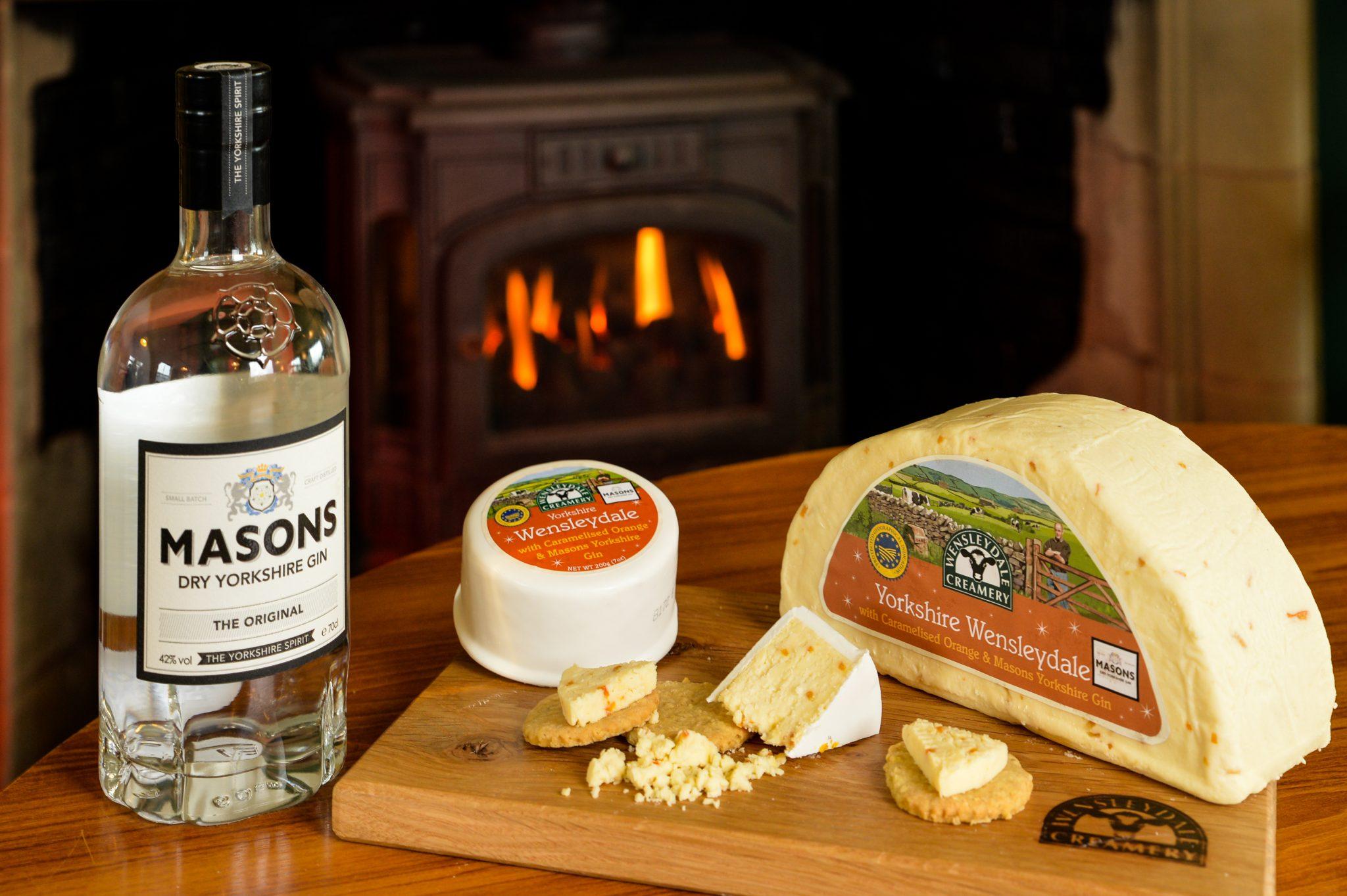 Wensleydale Creamery's Yorkshire Wensleydale with Caramelised Orange & Masons Yorkshire Gin