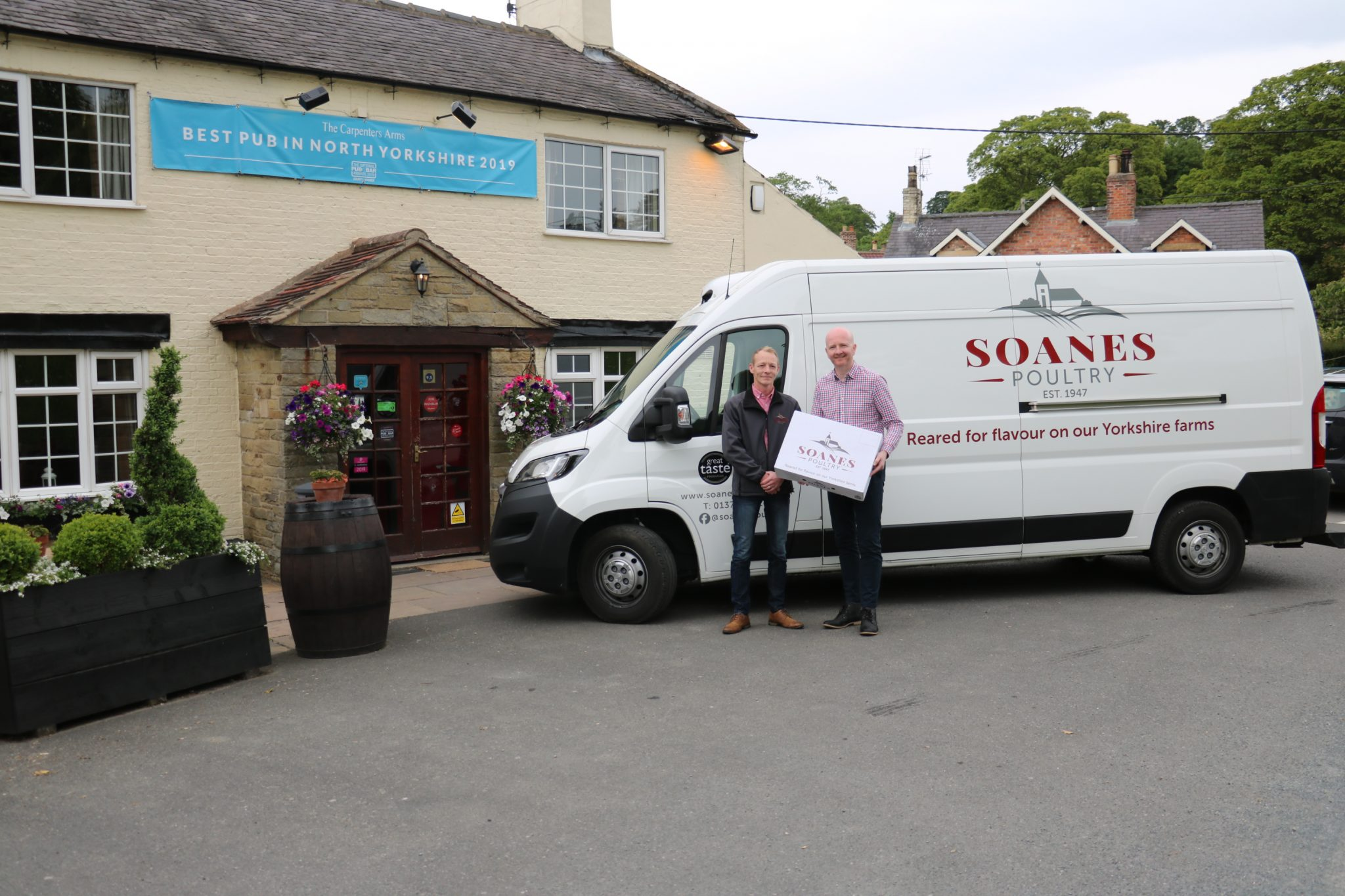 Richard Cross from Soanes Poultry and Jason Wardill from Provenance Inns and Hotels