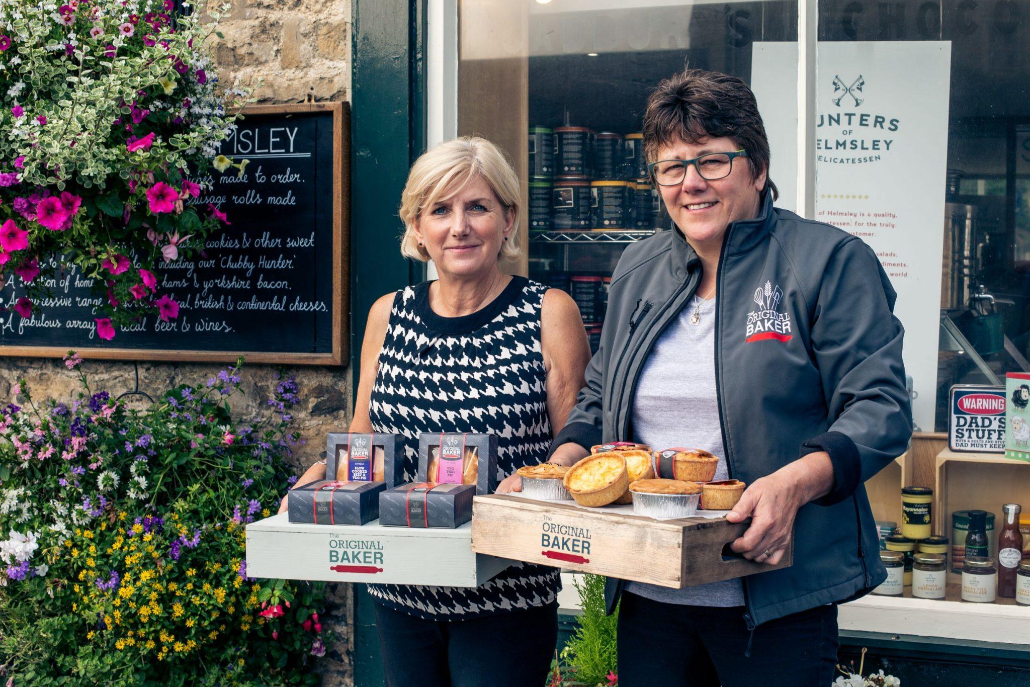 Christine Garnett of Hunters of Helmsley and Gill Ridgard of The Original Baker, with the new gluten free range