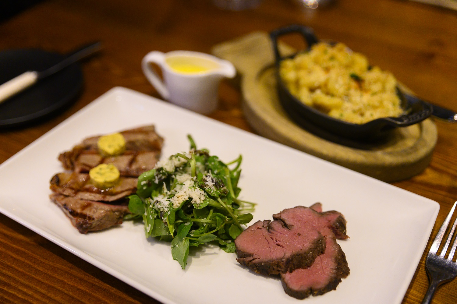 Showcase cuts from the Josper grill with lobster mac and cheese