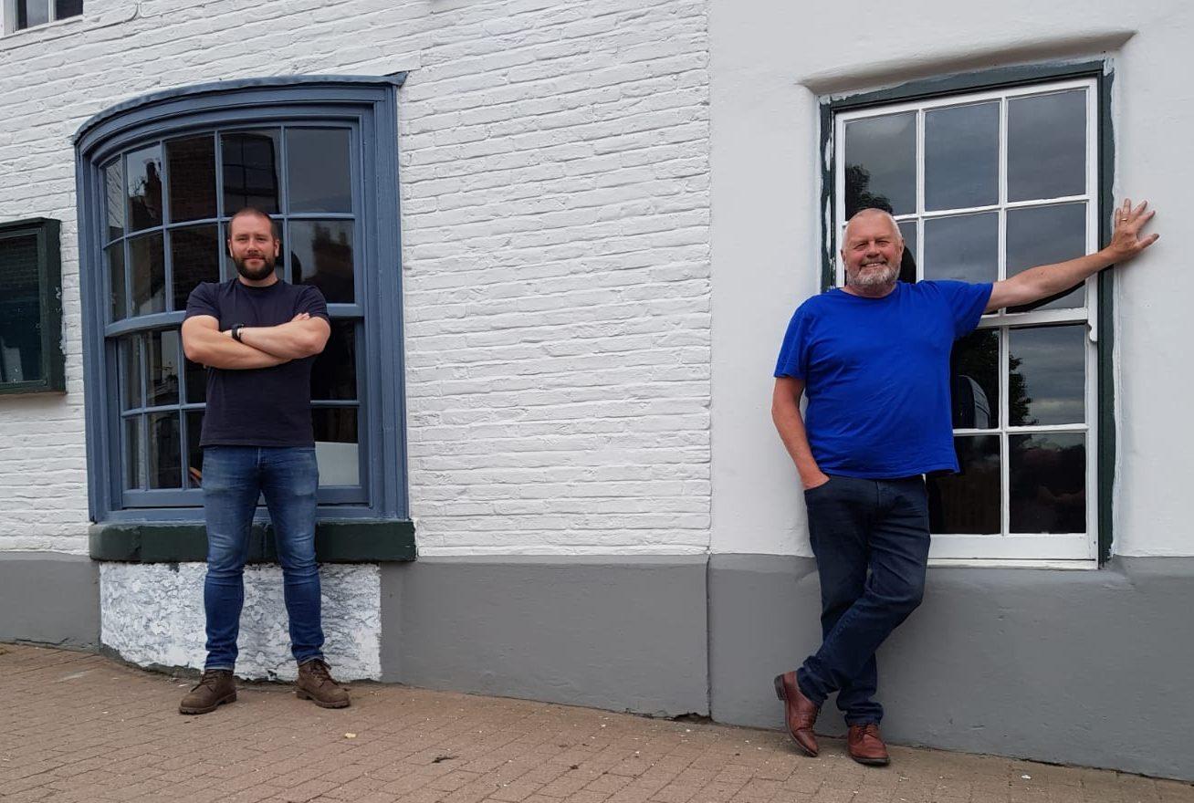 Sam Pullan (left) with John Dixon (right) at the Bear at Carriages in Knaresborough pic 1