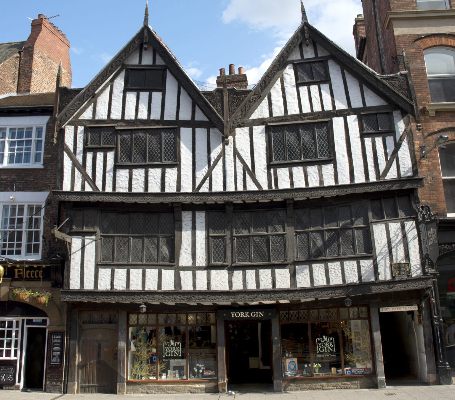 Thomas Herbert House home of York Gin 16th century building