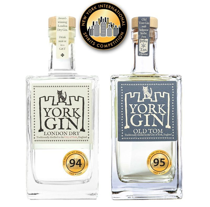 NY International Spirits Comp York Gin London Dry and Old Tom gold