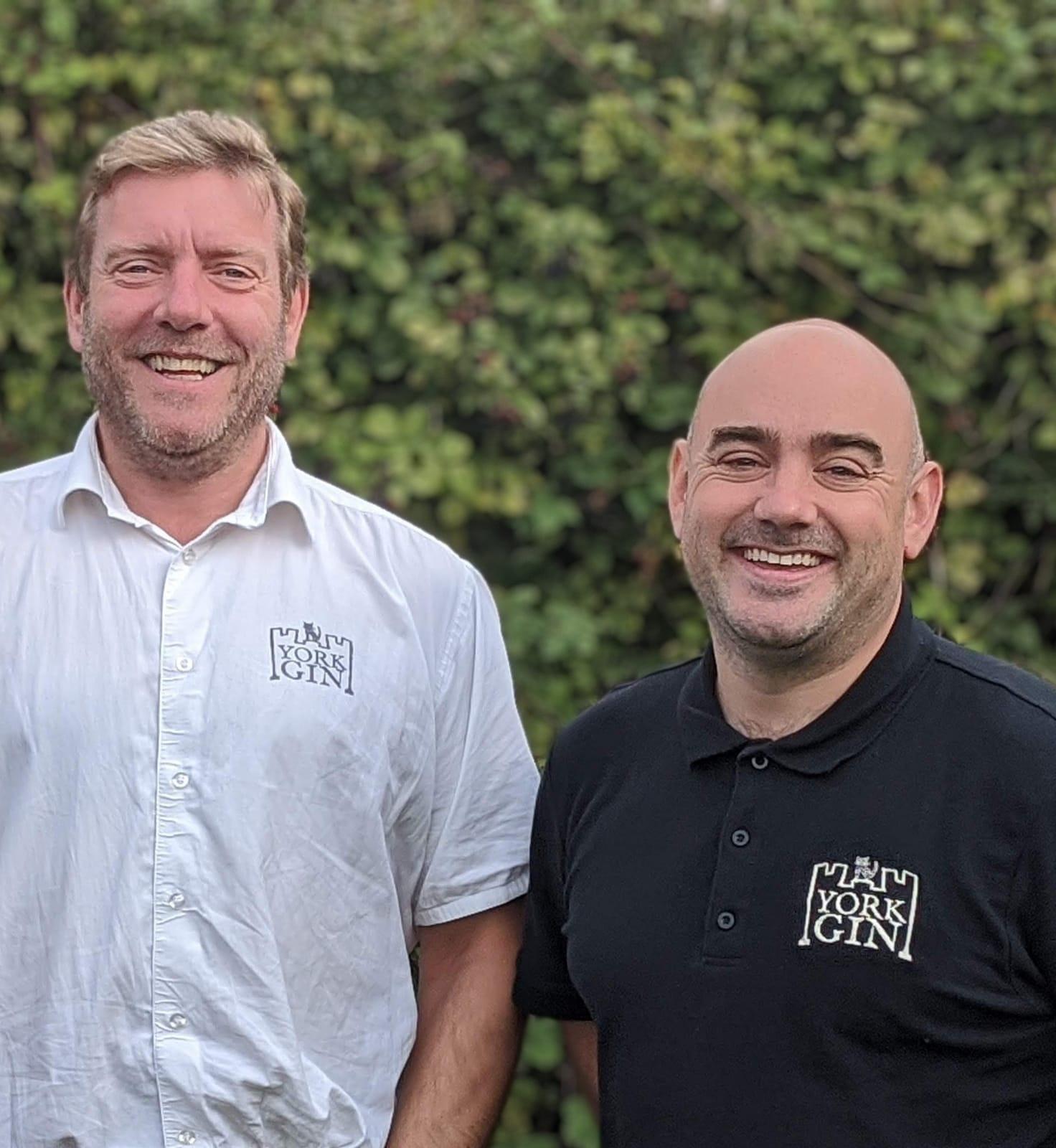 Pete McNichol L and Adam Cook R of York Gin