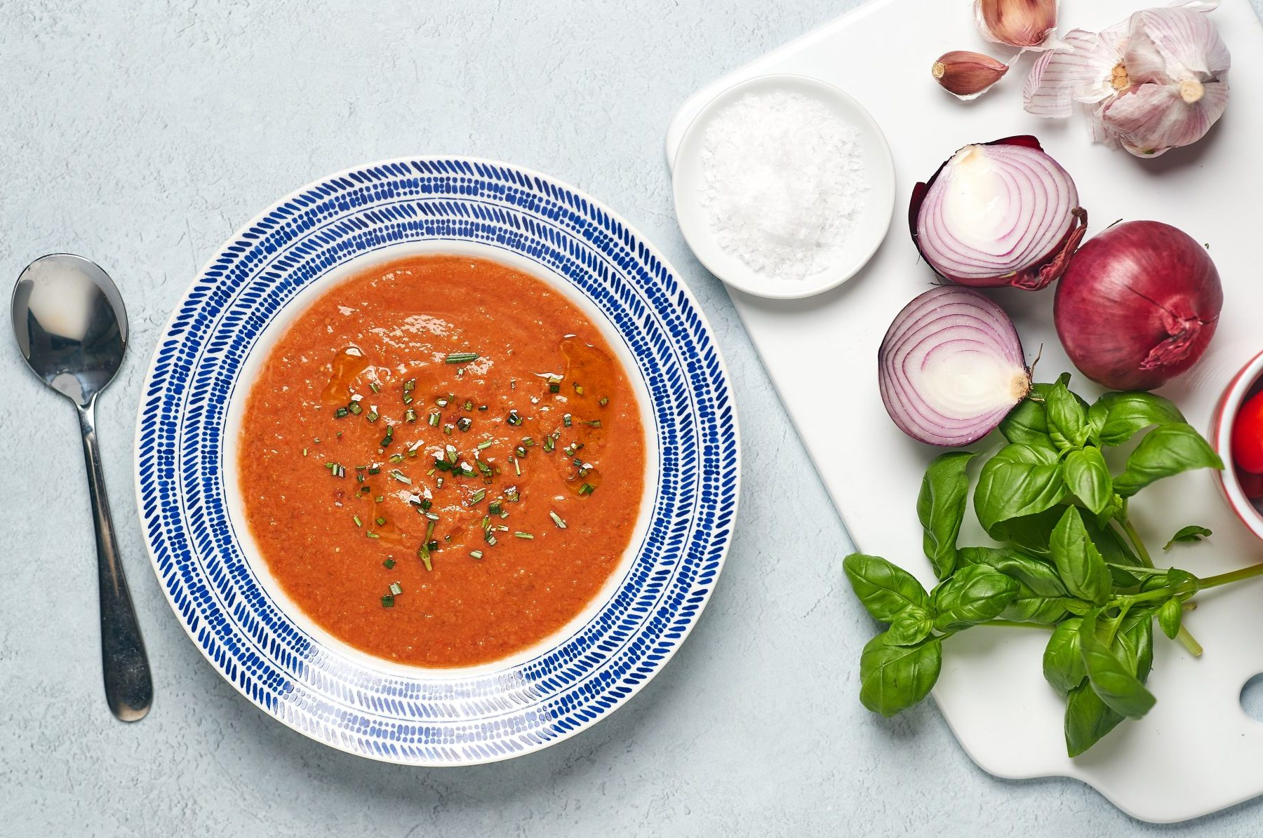 Gazpacho with Rosemary Oil